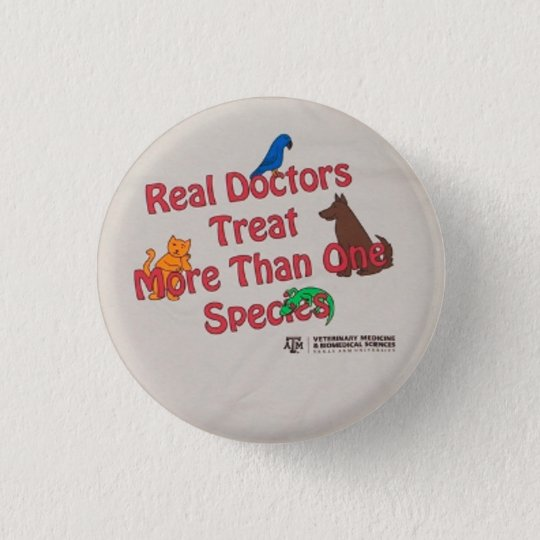 Real Doctors Pin/button 3 Cm Round Badge