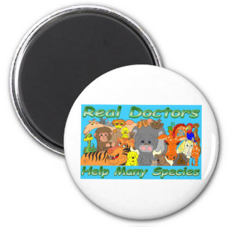 Real doctors treat all species - full color magnet