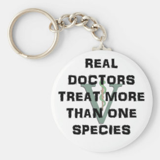 Real Doctors Treat More Than One Species Key Ring