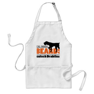Real Dogs Have Beards - Deutsch Drahthaar Standard Apron