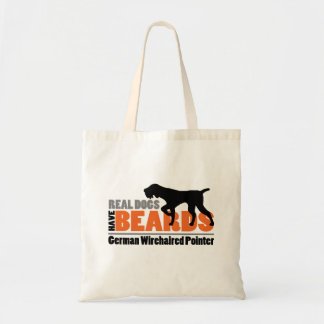 Real Dogs Have Beards - German Wirehaired Pointer Budget Tote Bag
