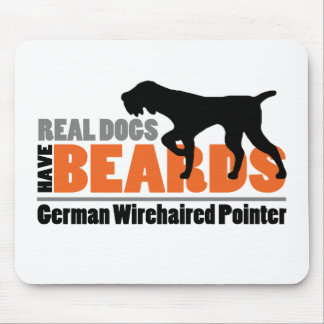Real Dogs Have Beards - German Wirehaired Pointer Mouse Mat