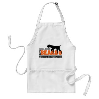 Real Dogs Have Beards - German Wirehaired Pointer Standard Apron