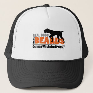 Real Dogs Have Beards - German Wirehaired Pointer Trucker Hat