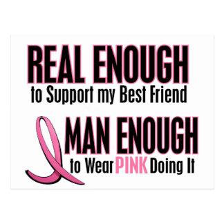 Real Enough Man Enough To Wear Pink BEST FRIEND Postcard
