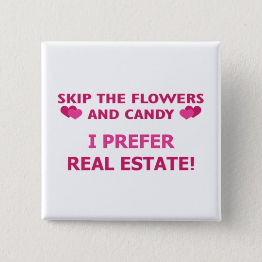 Real-Estate 15 Cm Square Badge