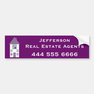 Real Estate Agent Advertising Car Bumper Sticker