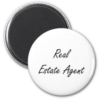 Real Estate Agent Artistic Job Design 6 Cm Round Magnet