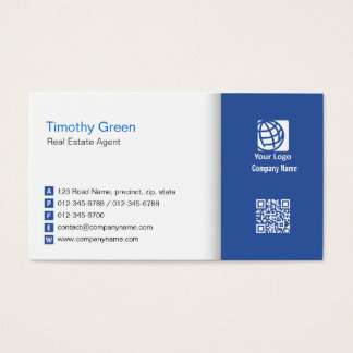 Real Estate Agent Business Card Simple #06