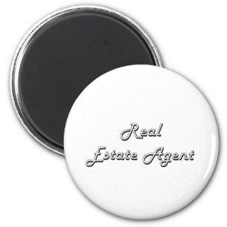 Real Estate Agent Classic Job Design 6 Cm Round Magnet