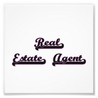 Real Estate Agent Classic Job Design Photo Art