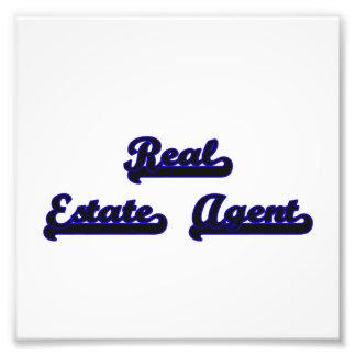 Real Estate Agent Classic Job Design Photographic Print