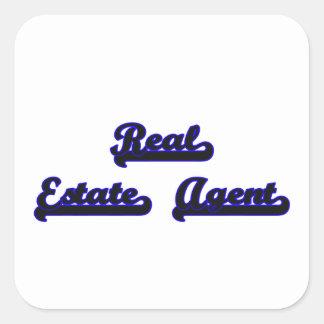 Real Estate Agent Classic Job Design Square Sticker