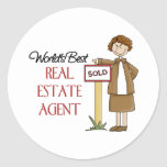 Real Estate Agent Gift Classic Round Sticker