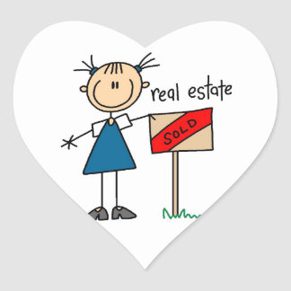 Real Estate Agent Heart Sticker