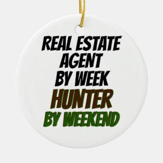 Real Estate Agent Hunter Christmas Ornament