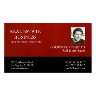 Real Estate Agent Marsala Crimson Business Cards