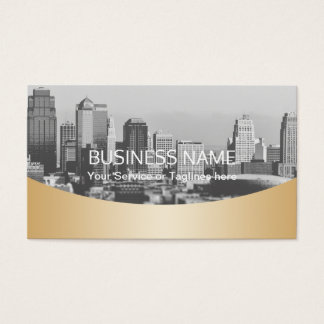 Real Estate Agent Professional Gold Metallic Business Card