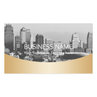 Real Estate Agent Professional Gold Metallic Pack Of Standard Business Cards