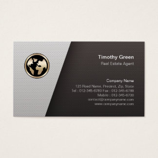 Real Estate Agent Simple Minimalist Business Card