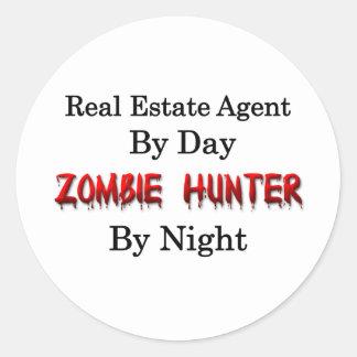 Real Estate Agent Zombie Hunter Sticker