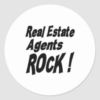 Real Estate Agents Rock! Sticker