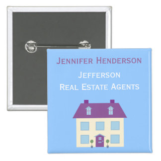 Real Estate Agents Staff Name Tag 15 Cm Square Badge