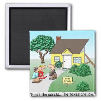 Real Estate Assets Square Magnet
