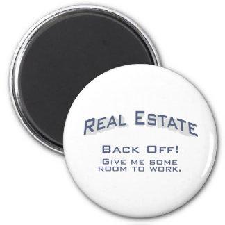 Real Estate / Back Off 6 Cm Round Magnet