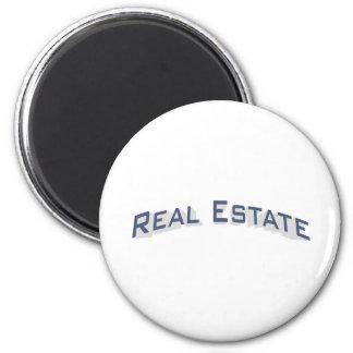 Real Estate / Blue 6 Cm Round Magnet