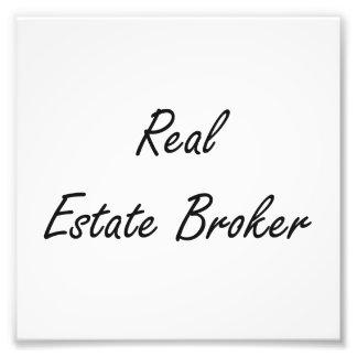 Real Estate Broker Artistic Job Design Photo Art