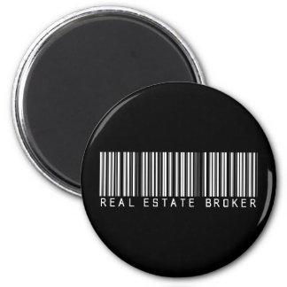 Real Estate Broker Bar Code 6 Cm Round Magnet