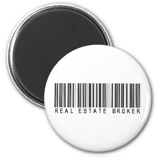 Real Estate Broker Bar Code Magnets