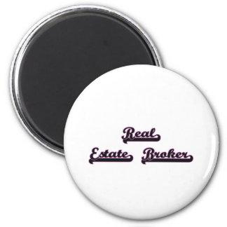 Real Estate Broker Classic Job Design 6 Cm Round Magnet