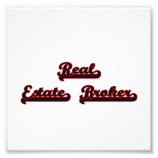 Real Estate Broker Classic Job Design Photo
