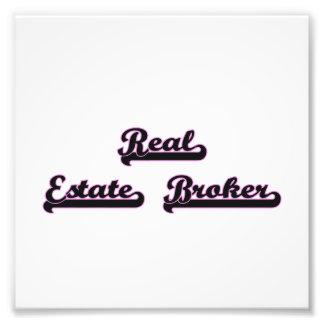 Real Estate Broker Classic Job Design Photo Print