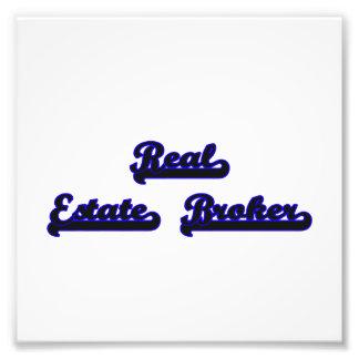 Real Estate Broker Classic Job Design Photographic Print