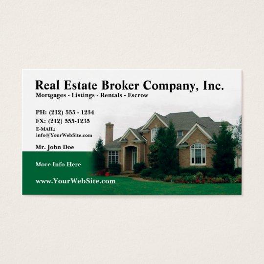 Real Estate Broker Editable Business Card