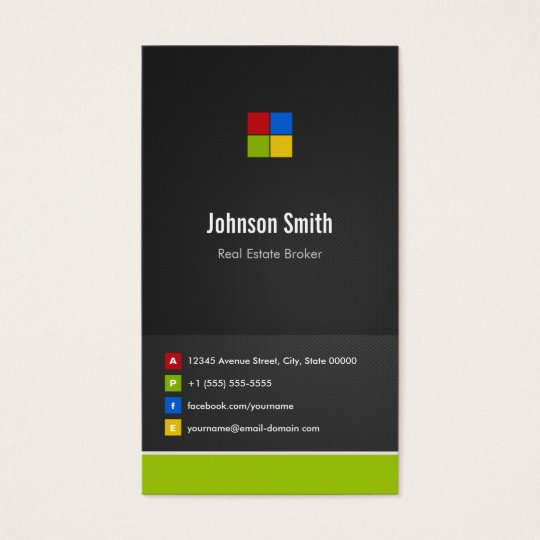 Real Estate Broker - Premium Creative Colourful Business Card