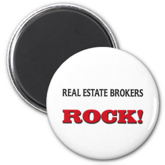 Real Estate Brokers Rock 6 Cm Round Magnet