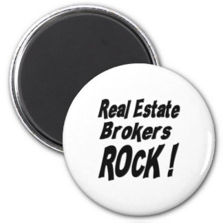 Real Estate Brokers Rock! Magnet
