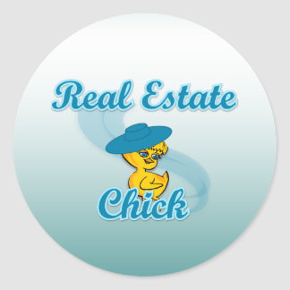 Real Estate Chick #3 Stickers