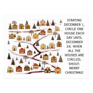 real estate Christmas cards Postcard