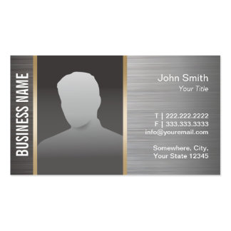 Real Estate Custom Photo Professional Metal Pack Of Standard Business Cards