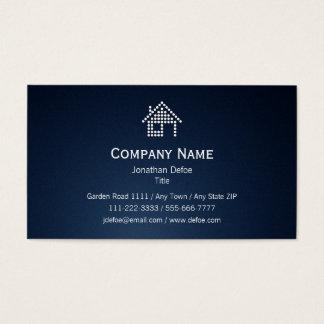 Real Estate Dark Blue Business Card