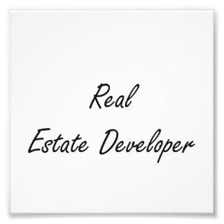 Real Estate Developer Artistic Job Design Photo Print
