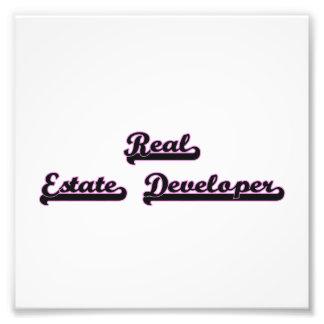 Real Estate Developer Classic Job Design Photographic Print