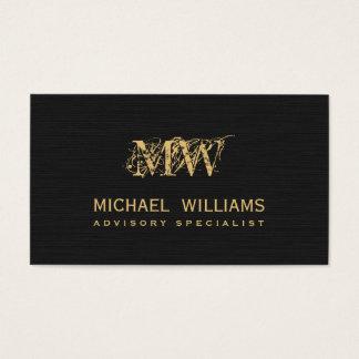 Real estate gold salesman - Black rough paper