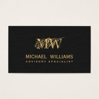 Real estate gold salesman - Black rough paper Business Card