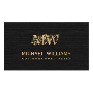 Real estate gold salesman - Black rough paper Pack Of Standard Business Cards